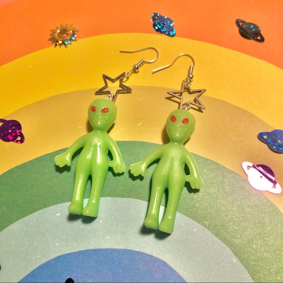 Lil Aliens and Stars Earrings